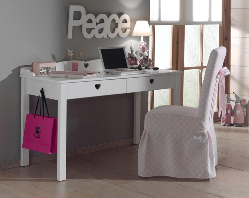 Bureau avec réhausse blanc brillant alicia cbc meubles