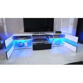 meuble tv design laqu blanc 200 cm topaze cbc meubles. Black Bedroom Furniture Sets. Home Design Ideas