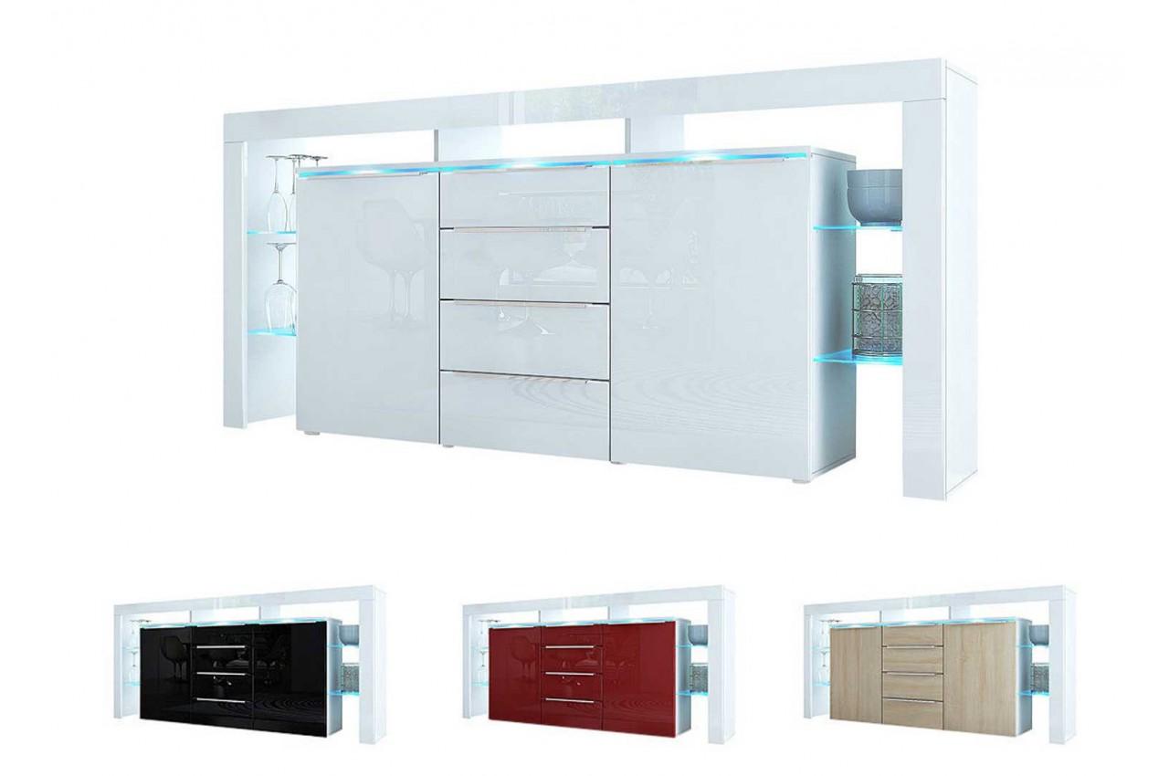 Meuble buffet design avec led jim cbc meubles for Meuble buffet salon design