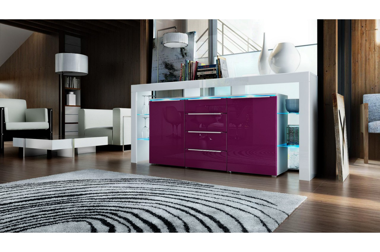meuble buffet design avec led jim cbc meubles. Black Bedroom Furniture Sets. Home Design Ideas
