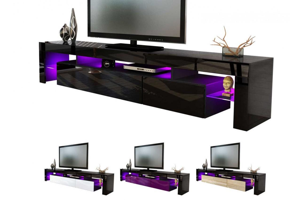 meuble t l hi fi design noir 189 cm irio cbc meubles. Black Bedroom Furniture Sets. Home Design Ideas
