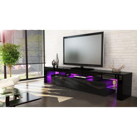 Meuble Télé hi-fi design noir 189 cm IRIO