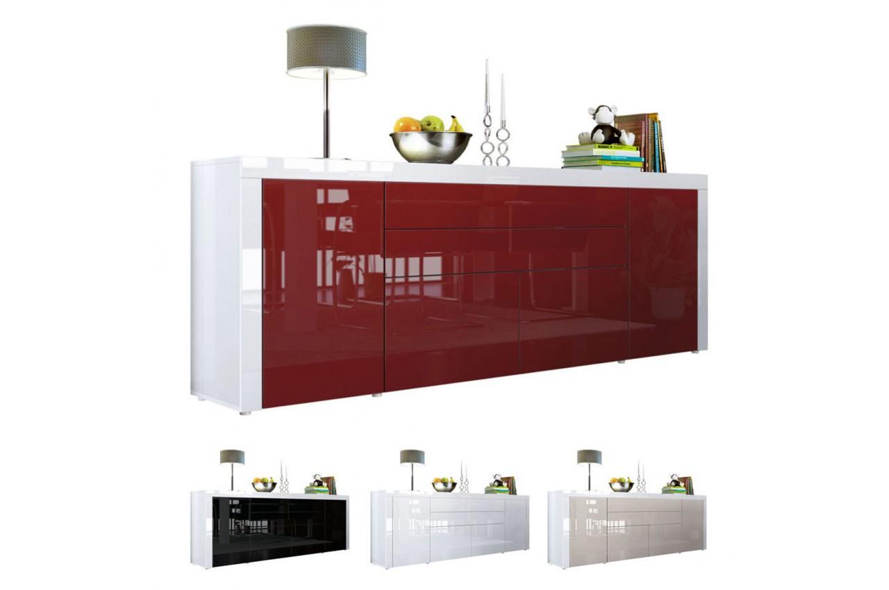 buffet bahut 200 cm 4 portes 2 tiroirs topaze cbc. Black Bedroom Furniture Sets. Home Design Ideas