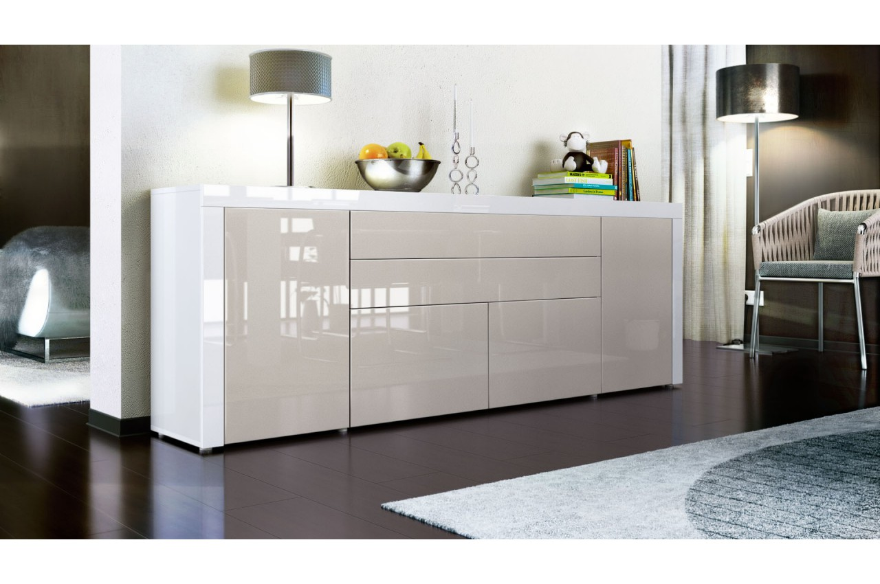Buffet bahut 200 cm 4 portes 2 tiroirs topaze cbc - Madie moderne ikea ...