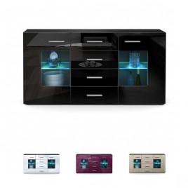 Buffet design noir 4 tiroirs LONDON