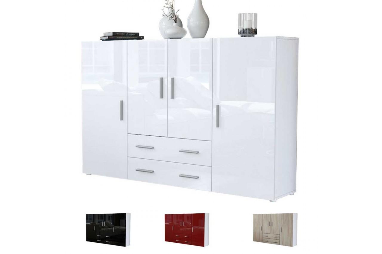 meuble bahut design 4 portes 2 tiroirs manhattan cbc meubles. Black Bedroom Furniture Sets. Home Design Ideas