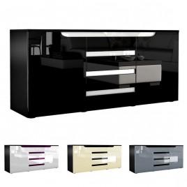 Buffet design 2 portes & 4 tiroirs 139 cm ACHILLE