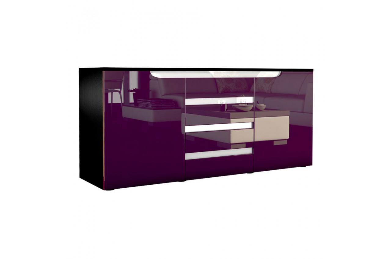 Buffet noir design 139 cm ACHILLE - Cbc-Meubles