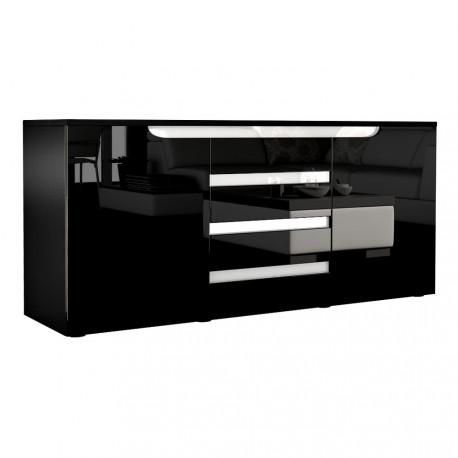 buffet design 2 portes 4 tiroirs 139 cm achille cbc meubles. Black Bedroom Furniture Sets. Home Design Ideas