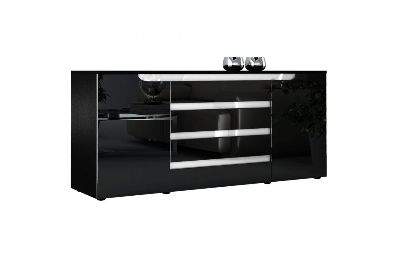 buffet long original 2 portes 4 tiroirs 166 cm achille cbc meubles. Black Bedroom Furniture Sets. Home Design Ideas