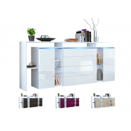 Buffet - rangement long blanc design LISA