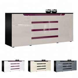 Buffet long original 2 portes & 4 tiroirs 166 cm ACHILLE