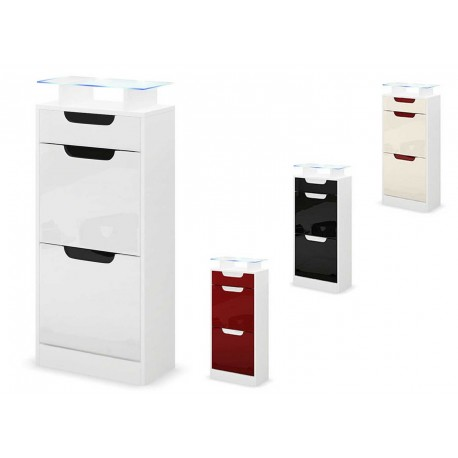 petit meuble chaussures 2 portes 1 tiroir achille cbc. Black Bedroom Furniture Sets. Home Design Ideas