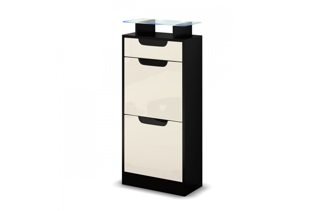petit meuble range chaussures pas cher 2 portes 1 tiroir achille cbc meubles. Black Bedroom Furniture Sets. Home Design Ideas