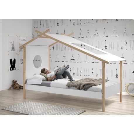lit cabane magique blanc hut cbc meubles. Black Bedroom Furniture Sets. Home Design Ideas
