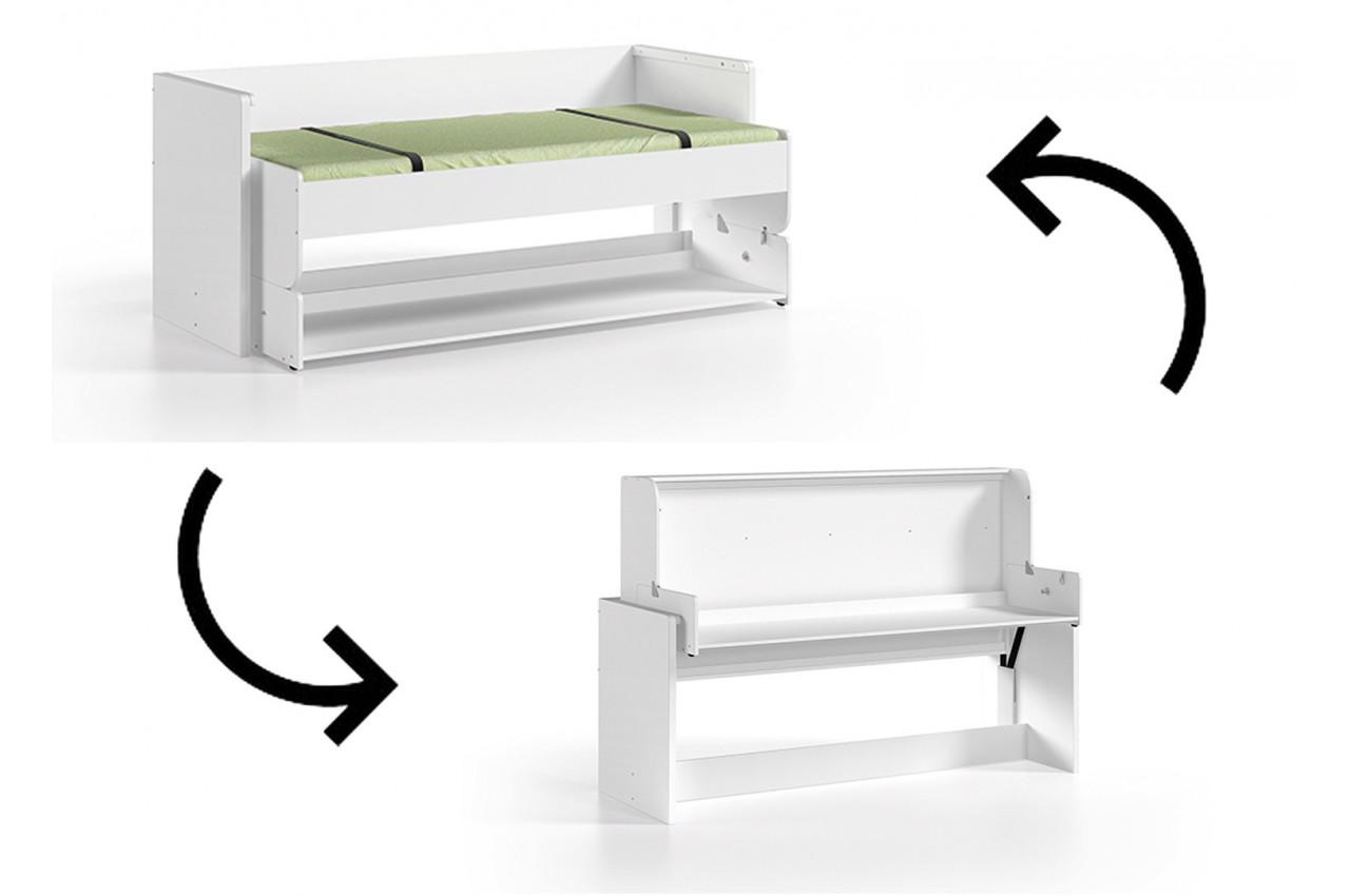 Lit gain de place ado optimus cbc meubles - Chambre enfant gain de place ...