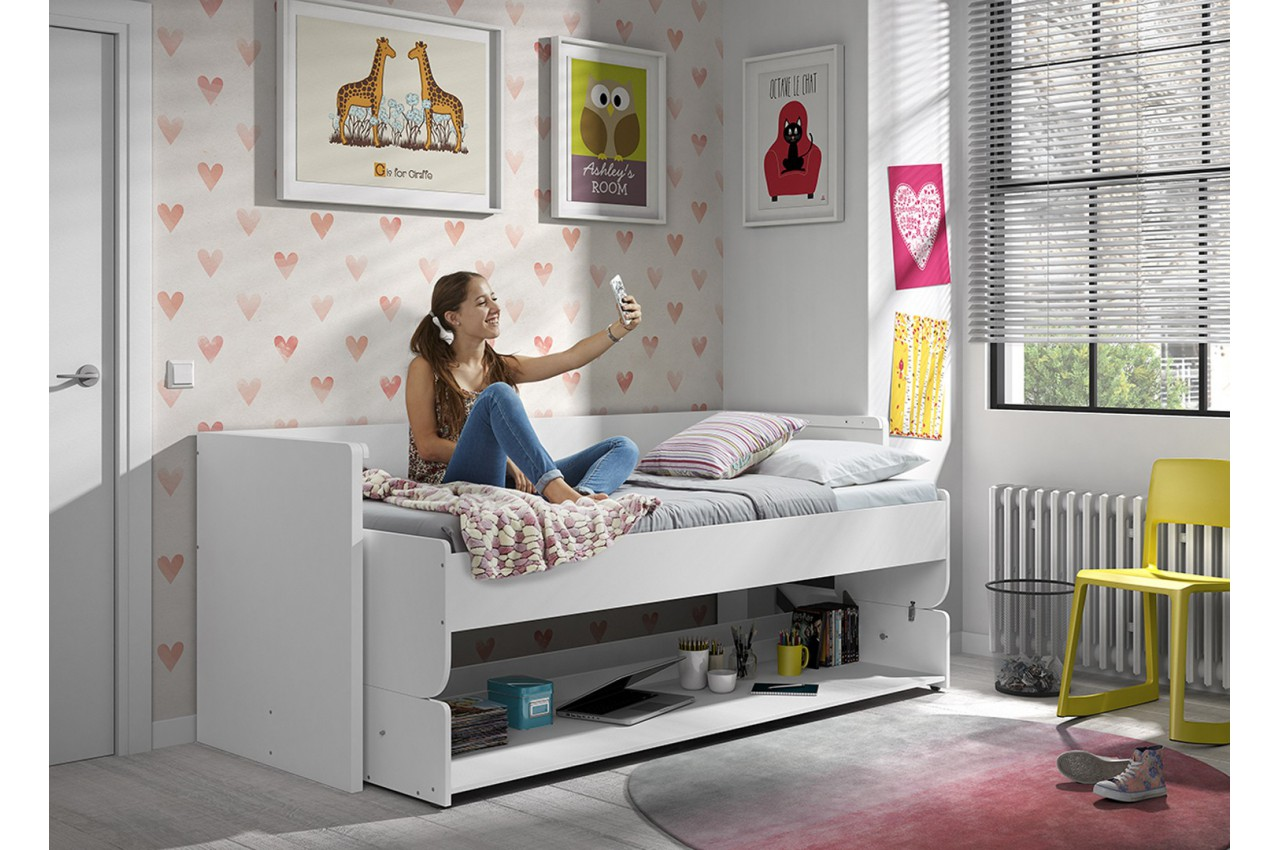 Lit gain de place ado optimus cbc meubles - Gain de place chambre ...