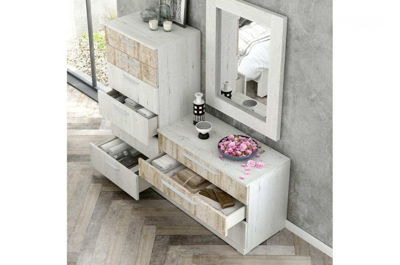 commode vintage 6 tiroirs 3 baix 124 cbc meubles. Black Bedroom Furniture Sets. Home Design Ideas