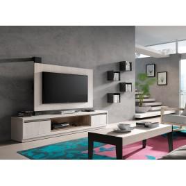 Meuble TV + Panneau TV ADEN 2920