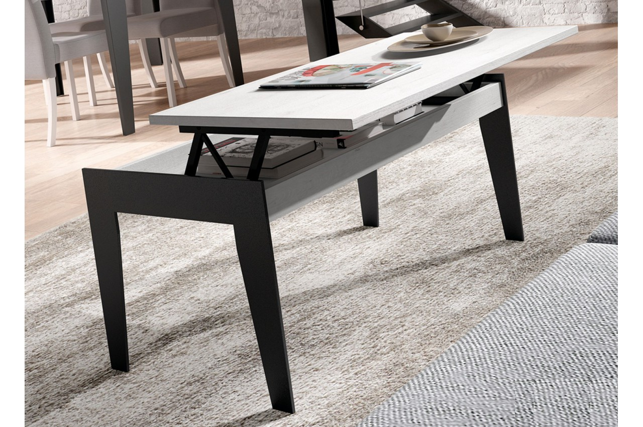 table basse bois fer forge d coration de maison contemporaine. Black Bedroom Furniture Sets. Home Design Ideas
