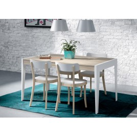 Table de repas en bois d'Orme extensible ADEN 2910