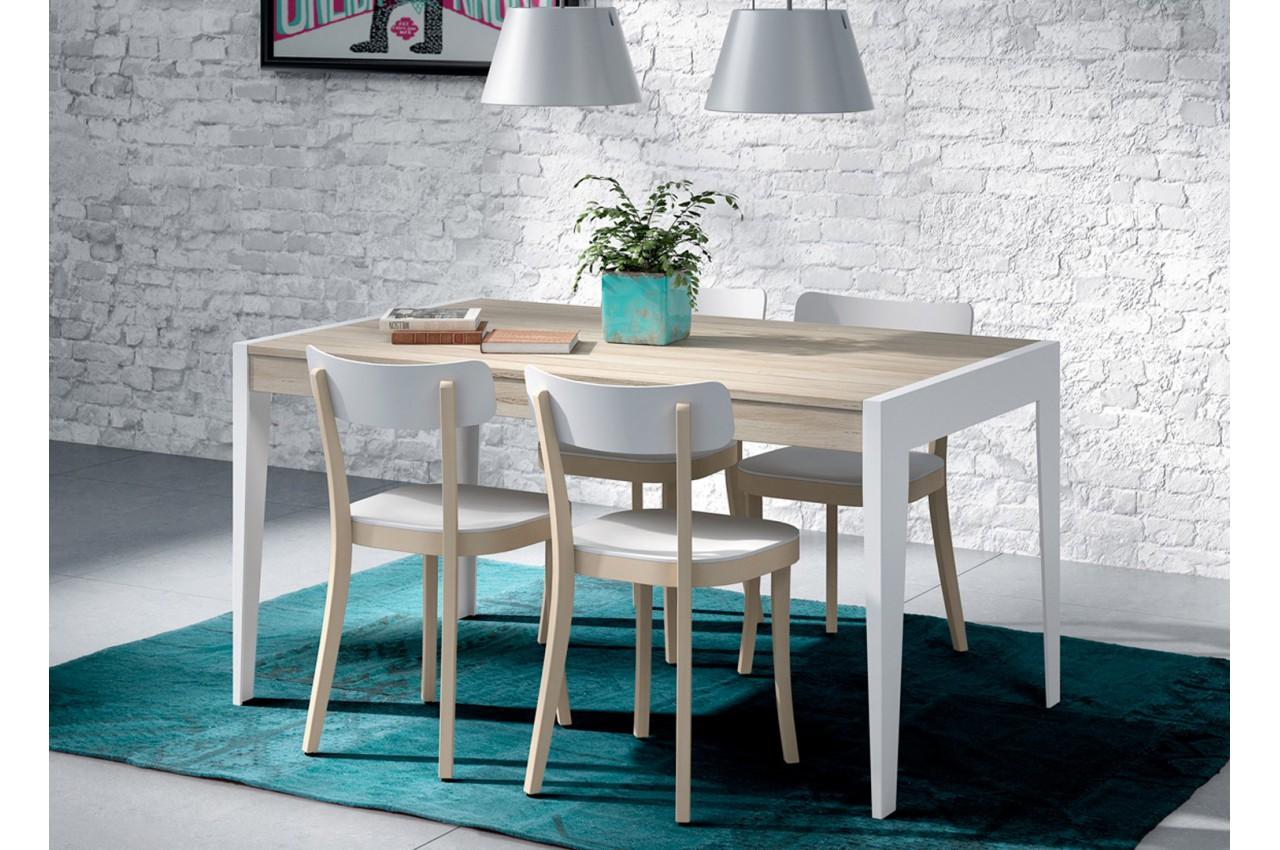 table de repas en bois d 39 orme extensible aden 2910 cbc meubles. Black Bedroom Furniture Sets. Home Design Ideas