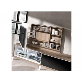 meuble tv design bois massif et verre cbc meubles. Black Bedroom Furniture Sets. Home Design Ideas