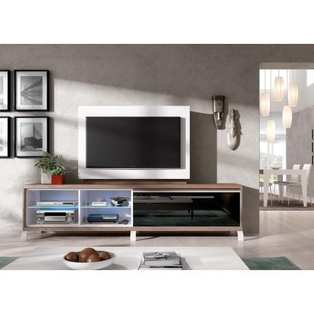 Meuble TV + Panneau TV rotatif ADEN 2909