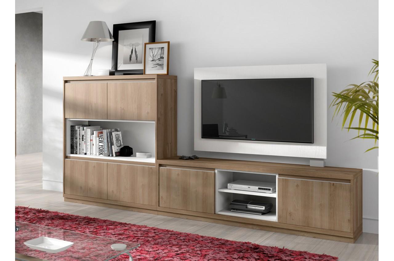 Ensemble tv panneau tv rotatif aden 2921 cbc meubles - Meuble tv rotatif ...