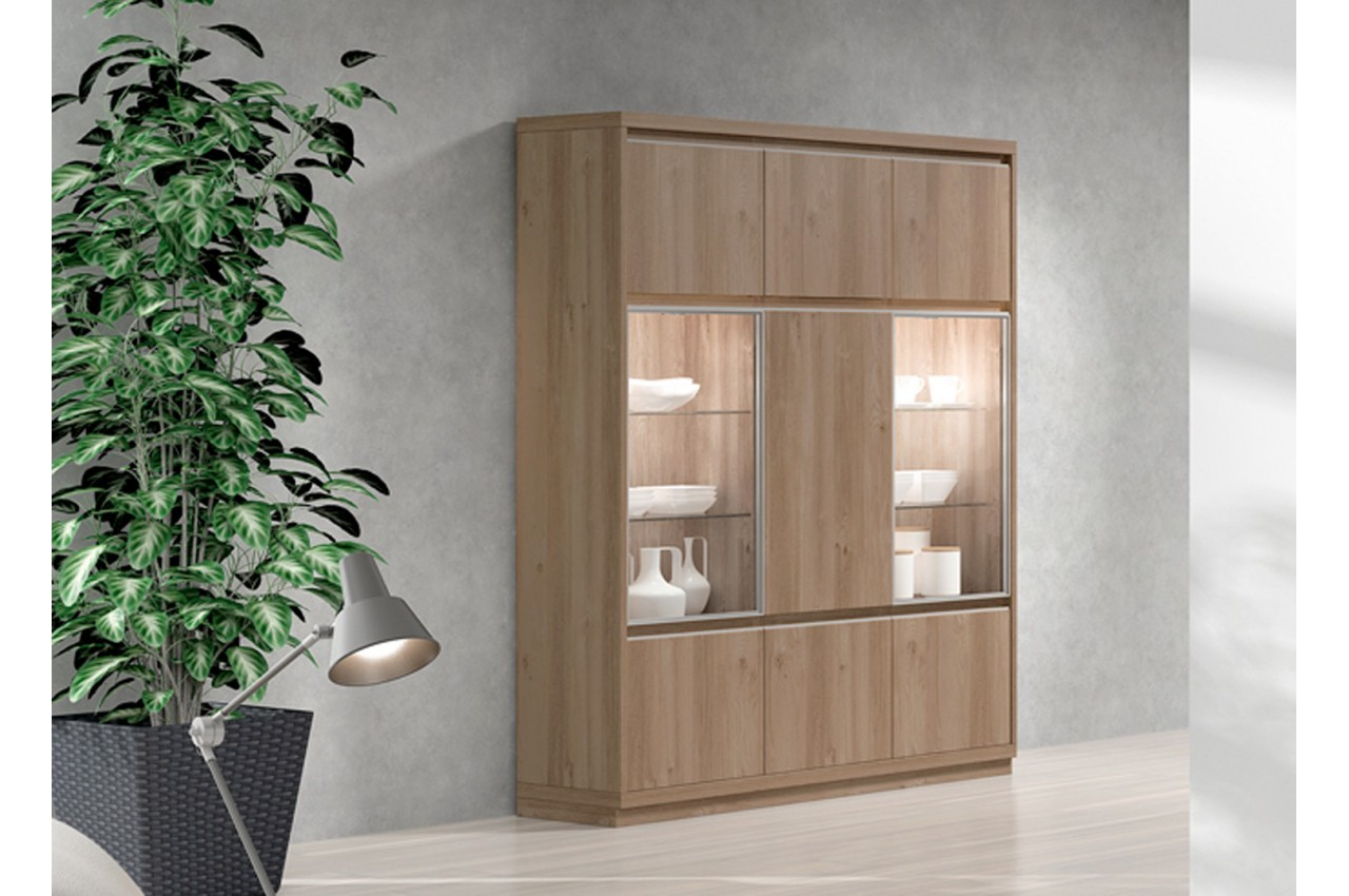 bahut haut contemporain en bois aden 2921 cbc meubles. Black Bedroom Furniture Sets. Home Design Ideas