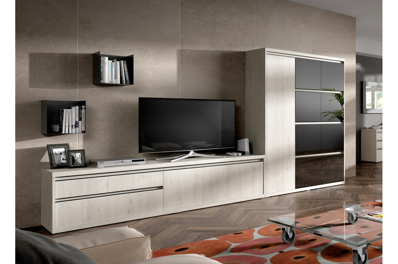 meuble tv contemporain aden 2922 cbc meubles. Black Bedroom Furniture Sets. Home Design Ideas
