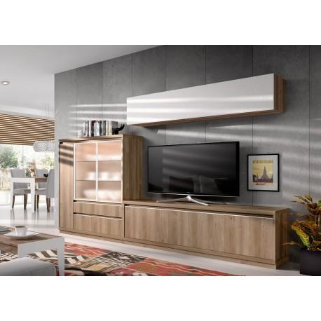 Meuble tv contemporain en bois d 39 acacia aden 2917 cbc for Meuble bois contemporain salon