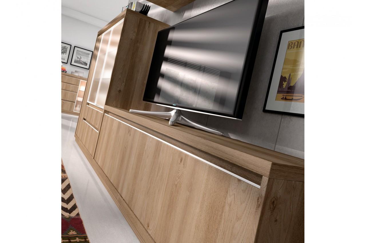 meuble tv contemporain en bois d 39 acacia aden 2917 cbc. Black Bedroom Furniture Sets. Home Design Ideas