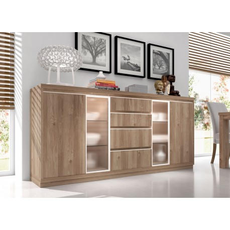 buffet contemporain en bois d 39 acacia aden 2917 cbc meubles. Black Bedroom Furniture Sets. Home Design Ideas