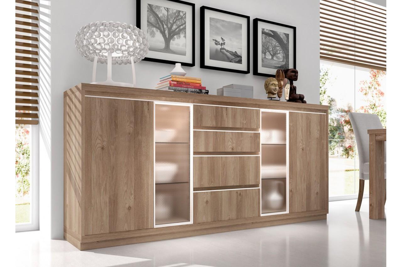 buffet contemporain en bois d 39 acacia aden 2917 cbc meubles. Black Bedroom Furniture Sets. Home Design Ideas