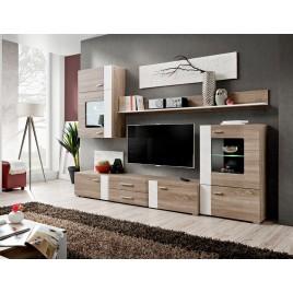 Ensemble TV Bois et Blanc Moderne PANAMA