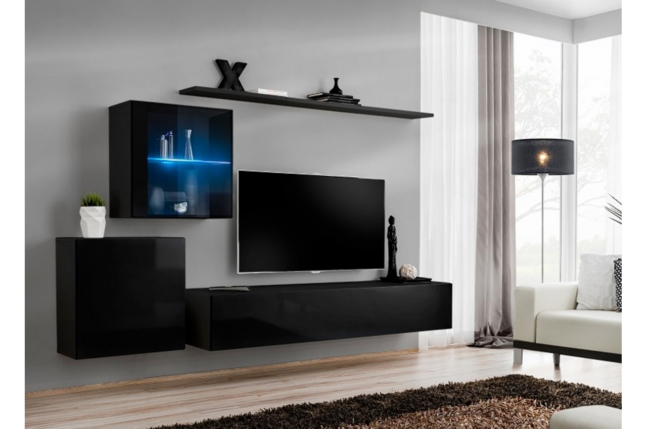 Ensemble meuble tv design costa 15 cbc meubles for Meuble design