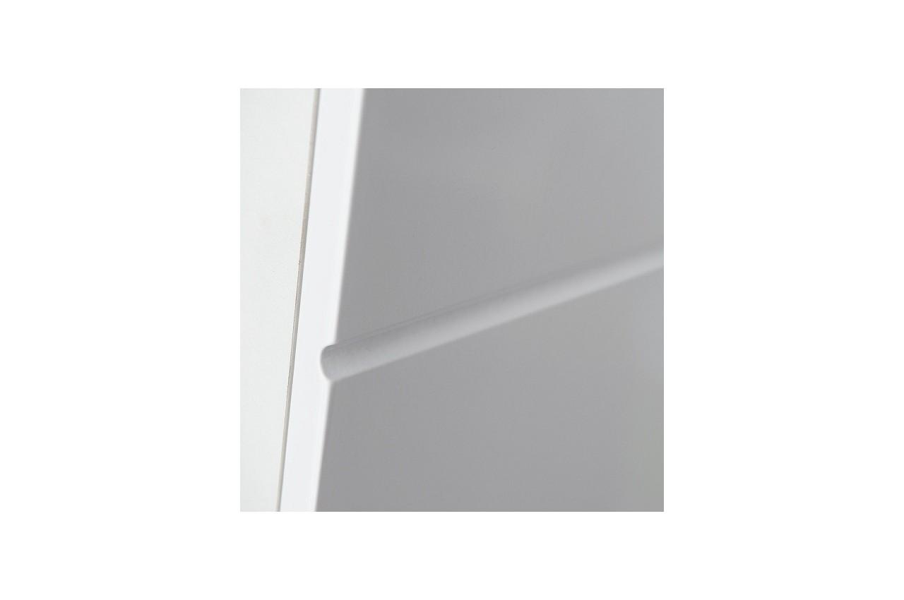 Meuble tv led blanc laqu elfy 4 cbc meubles - Meuble blanc laque led ...