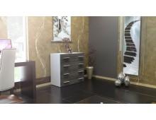 Commode Design - 4 tiroirs- 12 coloris laqués ou bois au choix