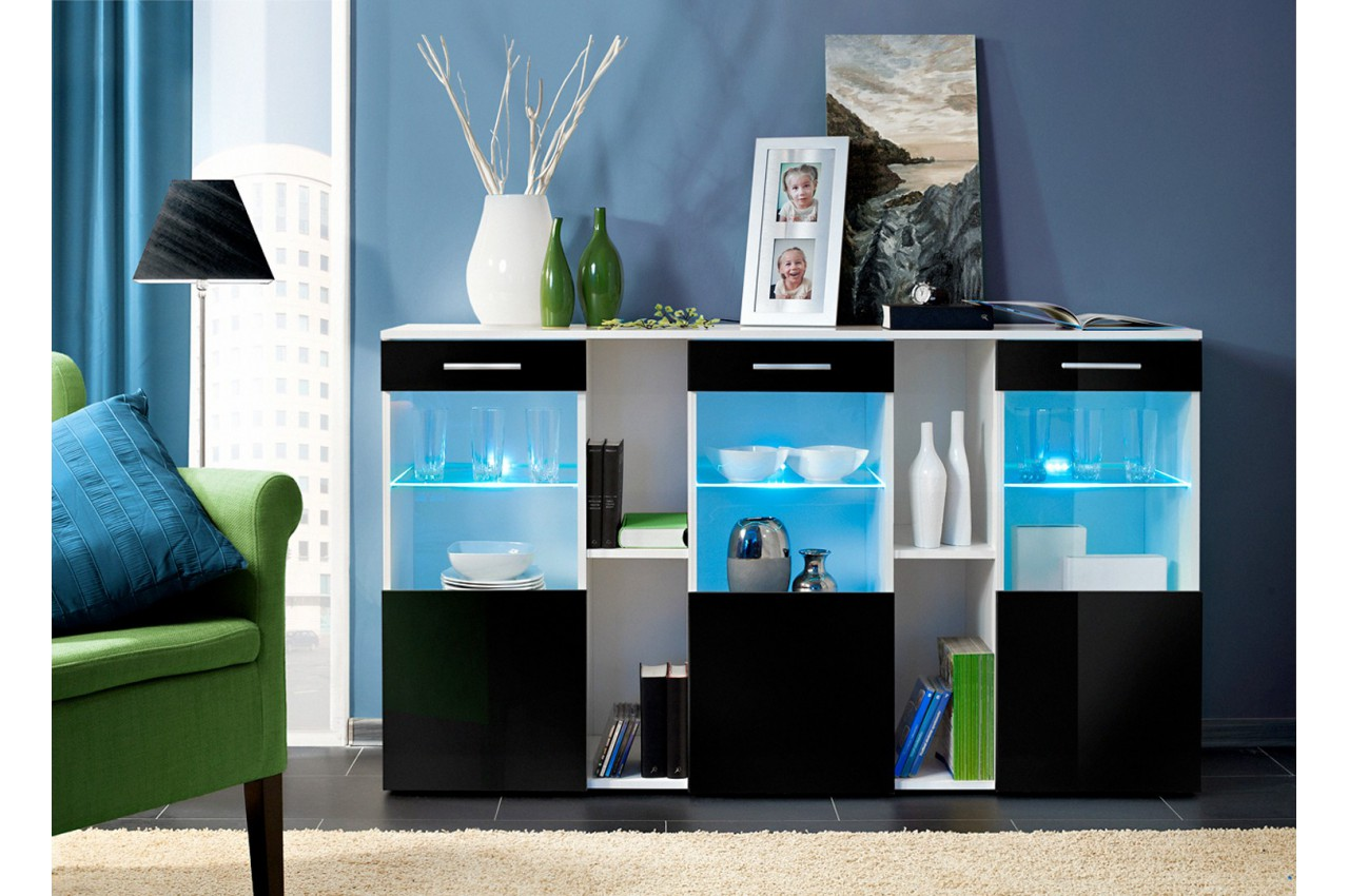 stunning buffet noir laque ideas. Black Bedroom Furniture Sets. Home Design Ideas