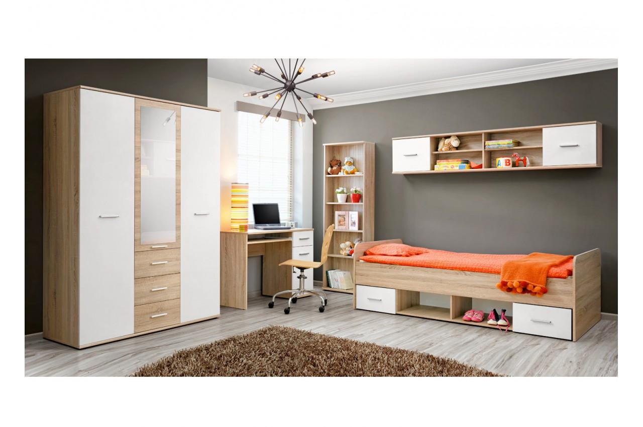 chambre enfant ch ne blanc daro 2 cbc meubles. Black Bedroom Furniture Sets. Home Design Ideas