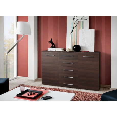 meuble buffet weng 2 portes 5 tiroirs buck cbc meubles. Black Bedroom Furniture Sets. Home Design Ideas