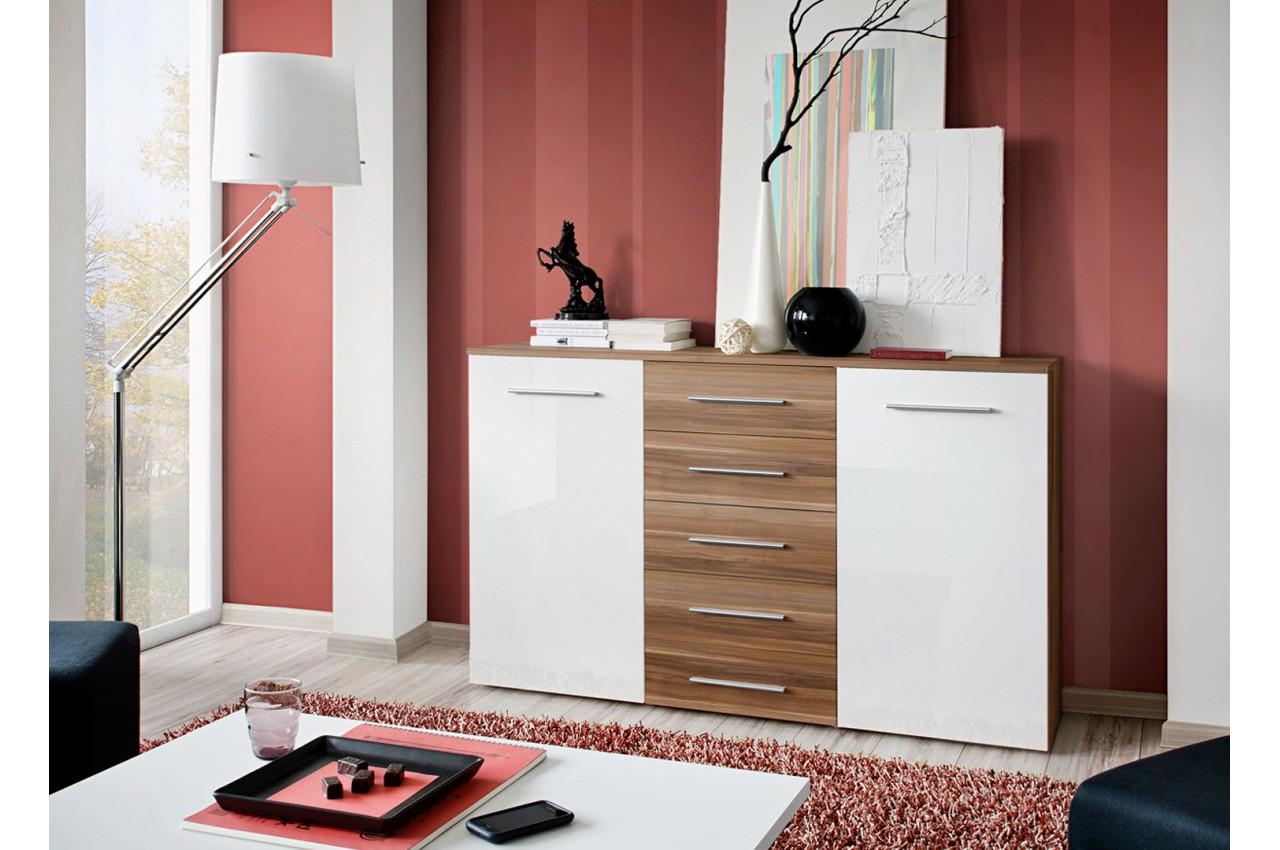 meuble buffet 2 portes 5 tiroirs buck cbc meubles. Black Bedroom Furniture Sets. Home Design Ideas