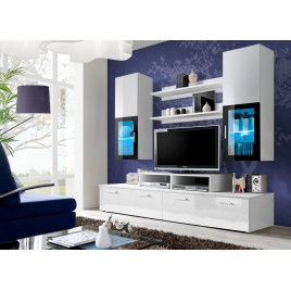 Meuble TV Design Blanc Laqué MARTY