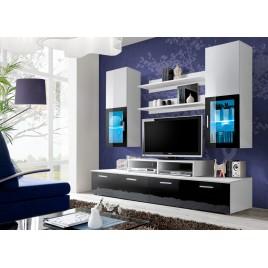 Composition TV Design Blanc / Noir MARTY