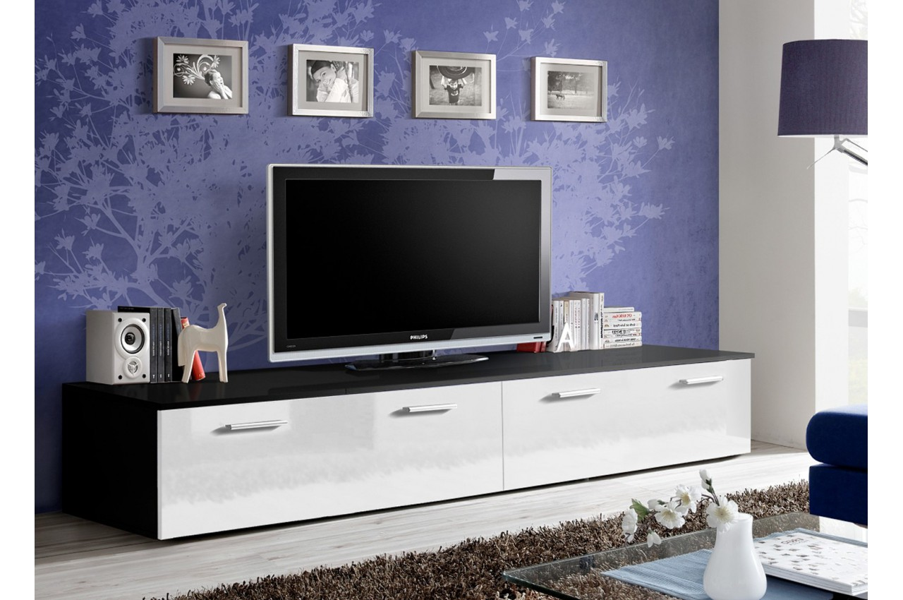 meuble tv bas 2 m pas cher marty 1 cbc meubles. Black Bedroom Furniture Sets. Home Design Ideas