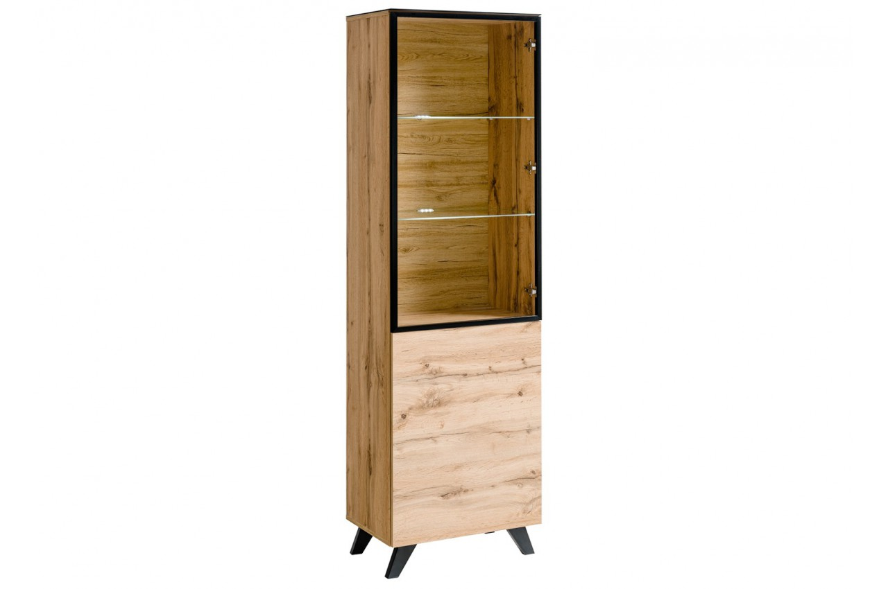 vitrine en verre et bois nordique jao cbc meubles. Black Bedroom Furniture Sets. Home Design Ideas