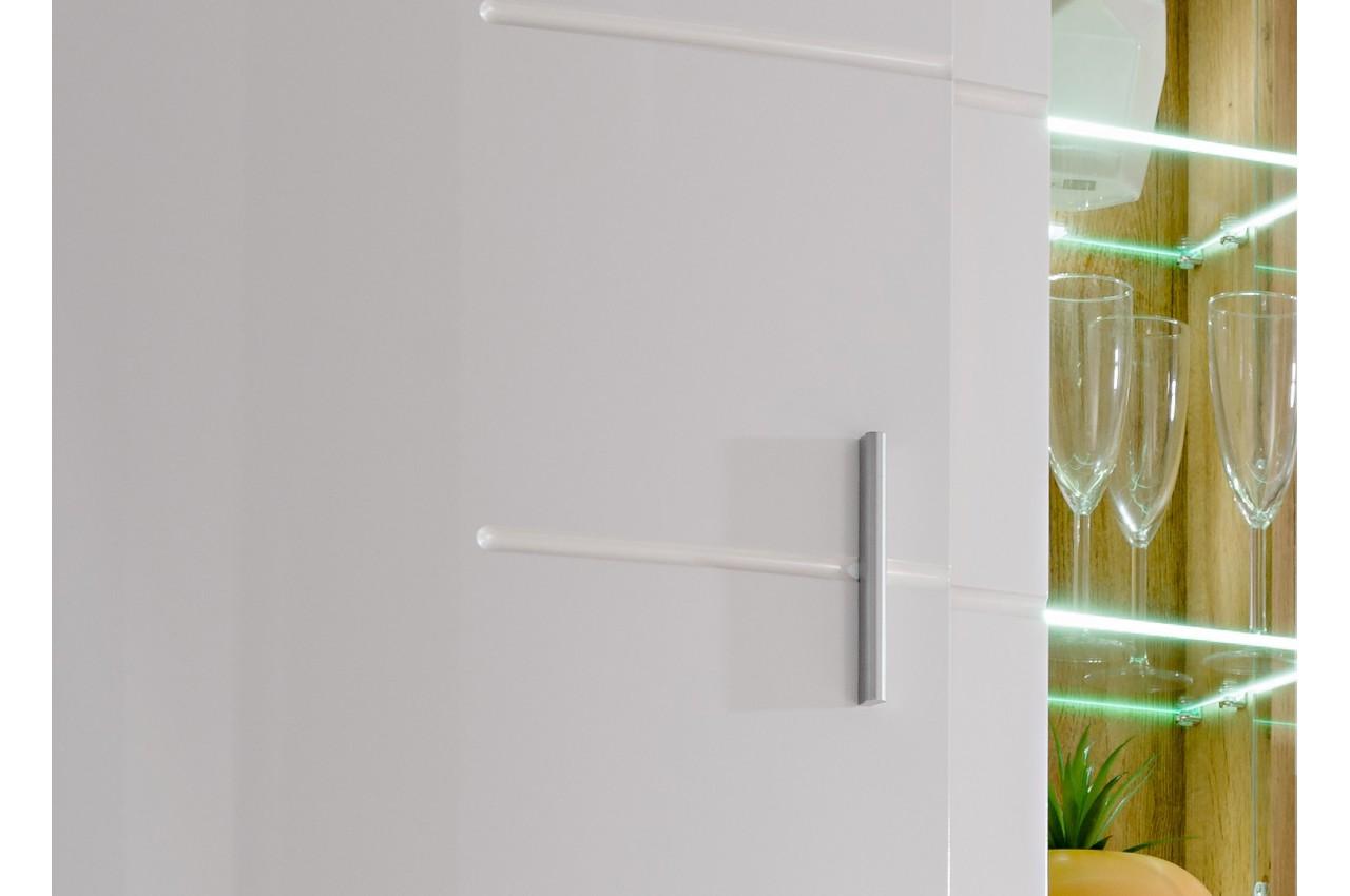 Ensemble tv blanc laqu et bois nordique cbc meubles for Meuble design nordique