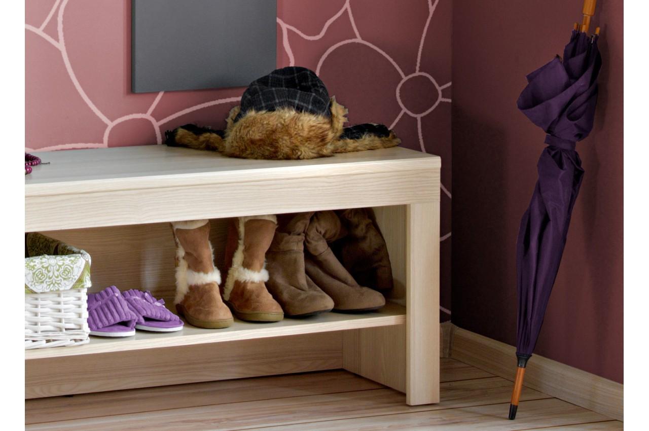 Ensemble entr e vestiaire avec banc viator cbc meubles for Meuble d entree avec banc