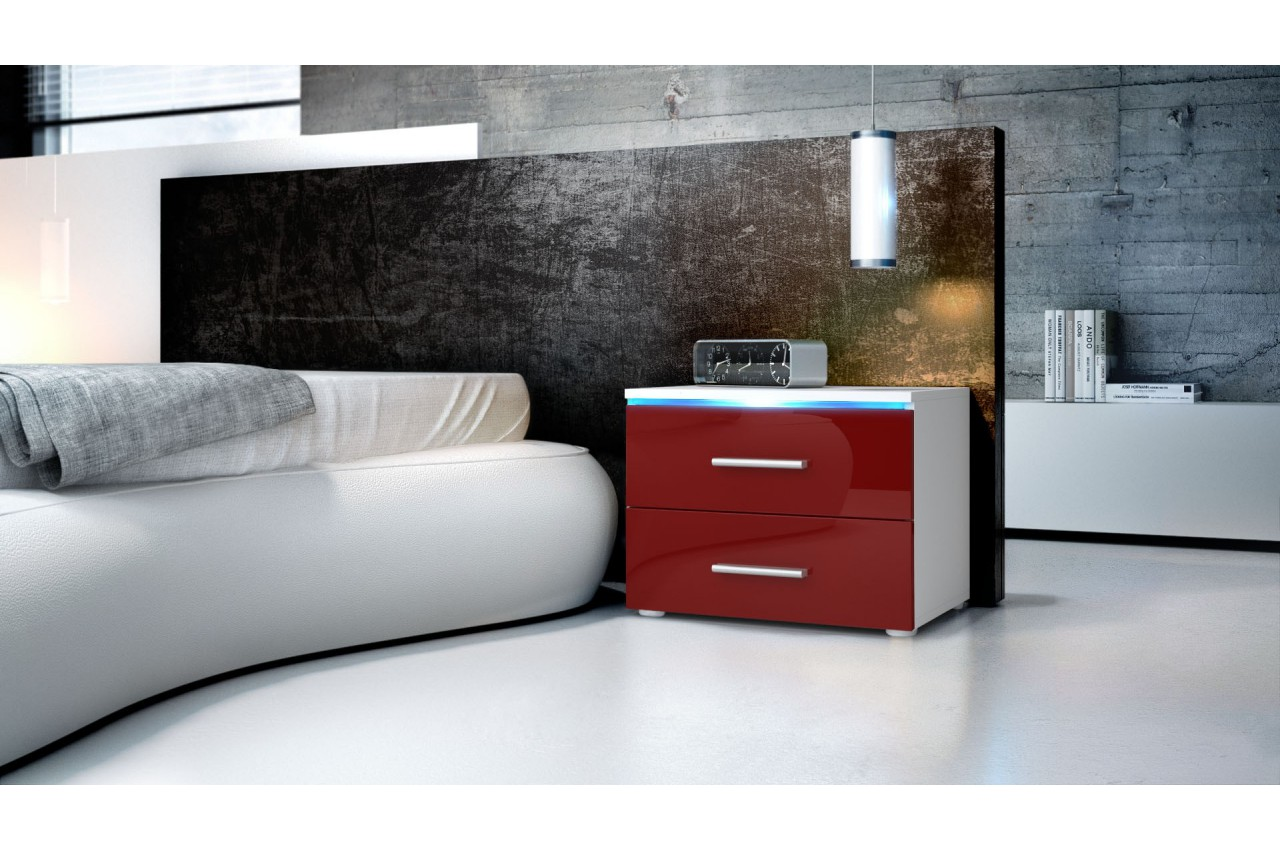 Table de nuit moderne city cbc meubles for Chambre de nuit moderne